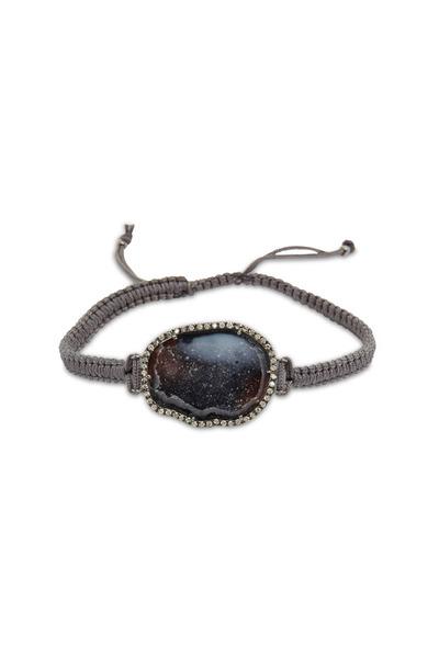 Kimberly McDonald - White Gold Dark Geode Diamond Macrame Bracelet