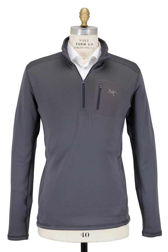 Arc'teryx Rho Ar Gray Quarter-Zip Pullover