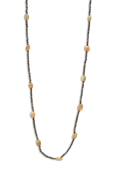 Sylva & Cie - Pyrite Opal Bead Chain Necklace