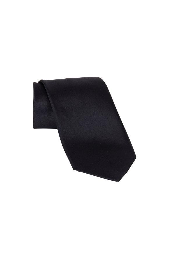 Ermenegildo Zegna Black Silk Necktie