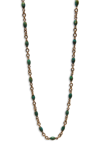 Sylva & Cie - Yellow Gold Turquoise Necklace