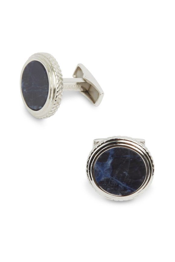 Cufflinks Inc Sterling Silver Lapis Cuff Links