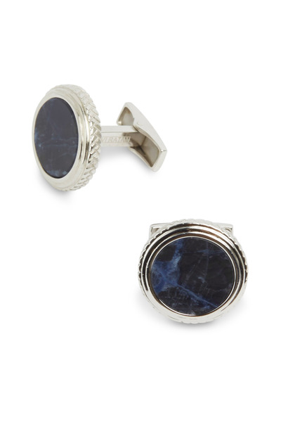 Cufflinks Inc - Sterling Silver Lapis Cuff Links