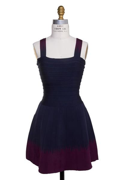 Herve Leger - Navy Blue Bandage Dress