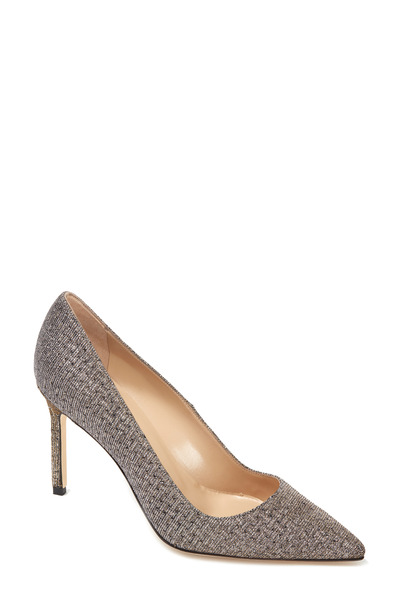Manolo Blahnik - BB Silver Micro Twill Pump, 90mm