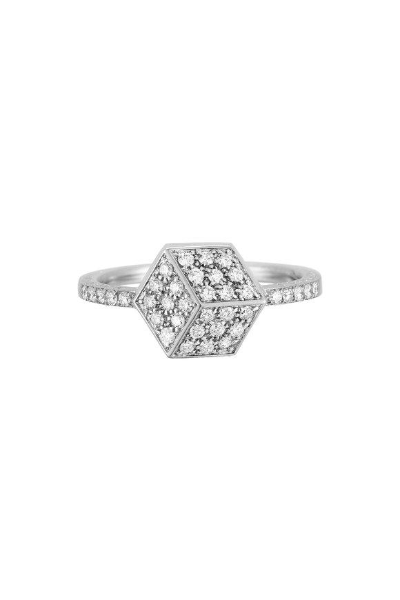 Paolo Costagli 18K White Gold Pavé Diamond Brilliante Ring