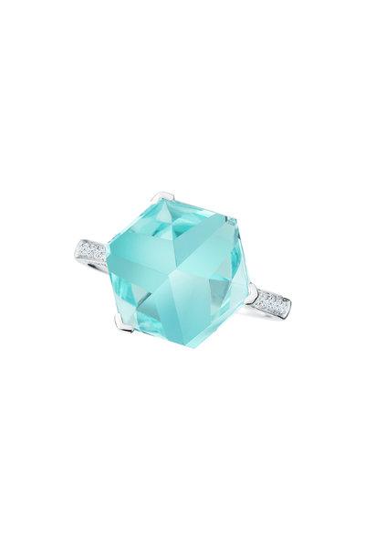 Paolo Costagli - 18K White Gold Topaz & Diamond Ring