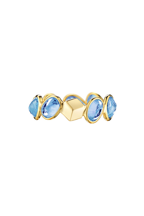 Paolo Costagli Yellow Gold Blue Sapphire Ring