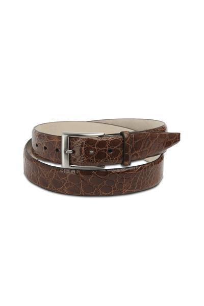 Torino - Cognac Glazed Caiman Belt