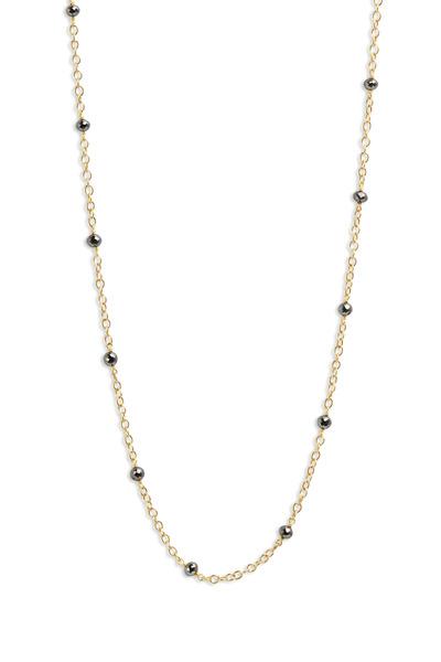 Caroline Ellen - 20K Yellow Gold Black Diamond Chain