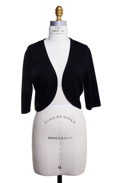 Michael Kors Collection - Black Merino Wool Shrug