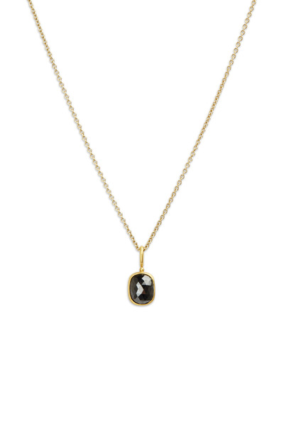 Caroline Ellen - 22K Yellow Gold Black Diamond Pendant Necklace