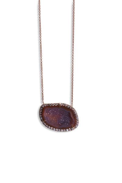 Kimberly McDonald - Rose Gold Geode Diamond Pendant