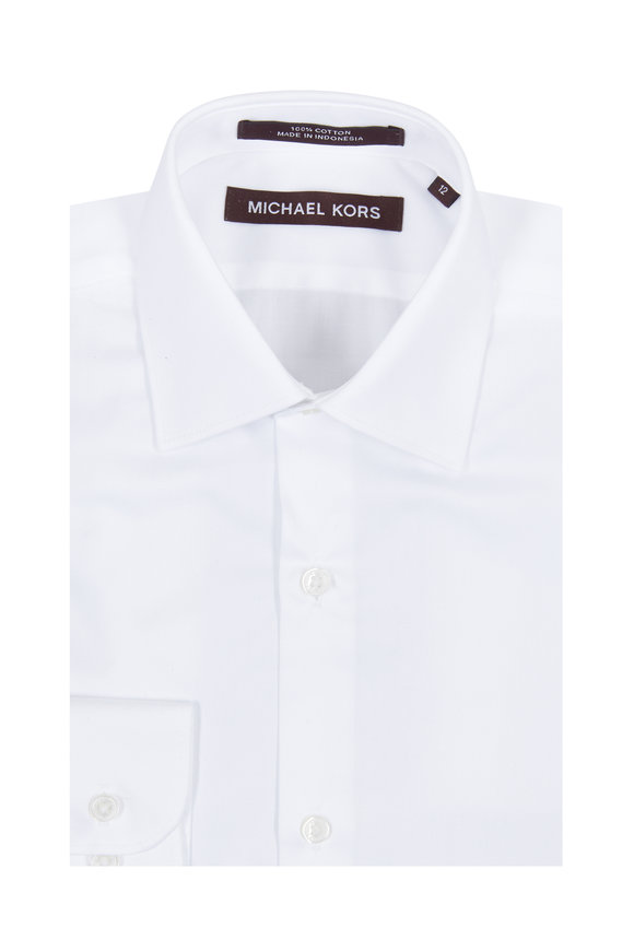 Hickey Freeman Children Boys Solid White Dress Shirt