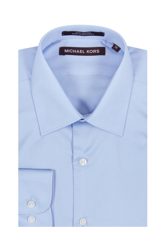 Hickey Freeman Children Boys Solid Blue Dress Shirt