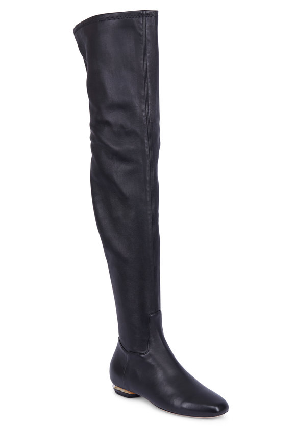 Nicholas Kirkwood Beya Black Nappa Over-The-Knee Boot