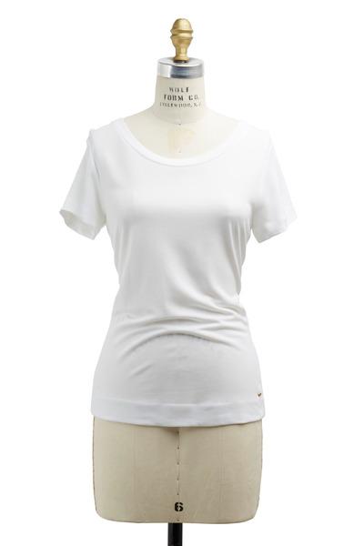 Escada - Eimear White Jersey T-Shirt