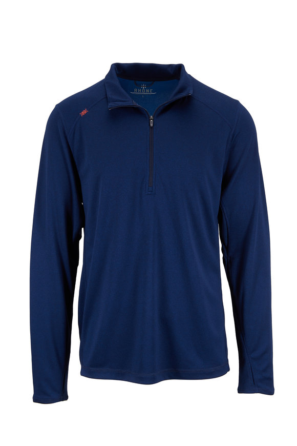 Rhone Apparel Sequoia Air Navy Blue Quarter-Zip Pullover