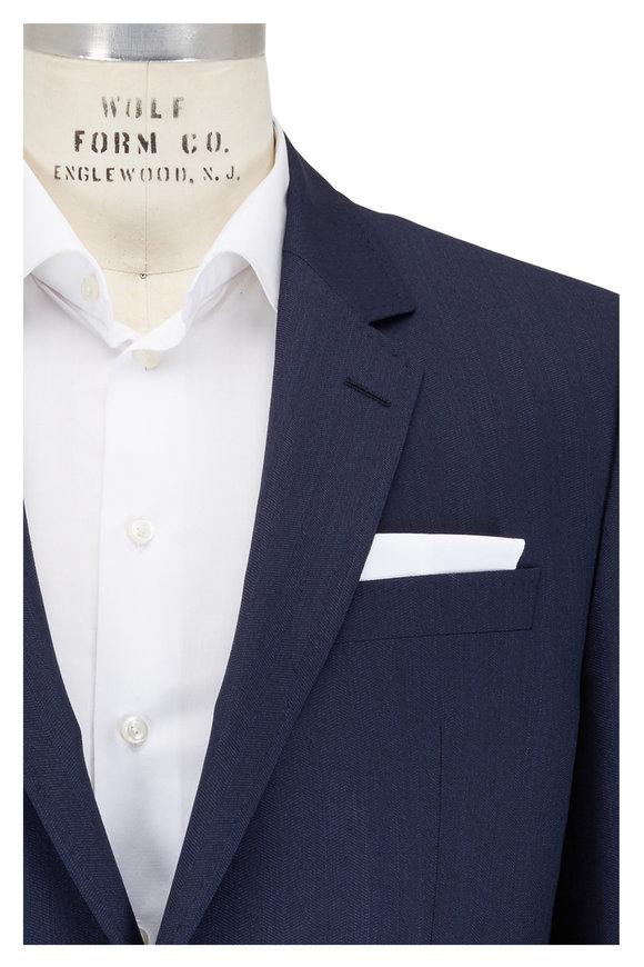 Boss Hugo Boss Navy Blue Wool Sportcoat