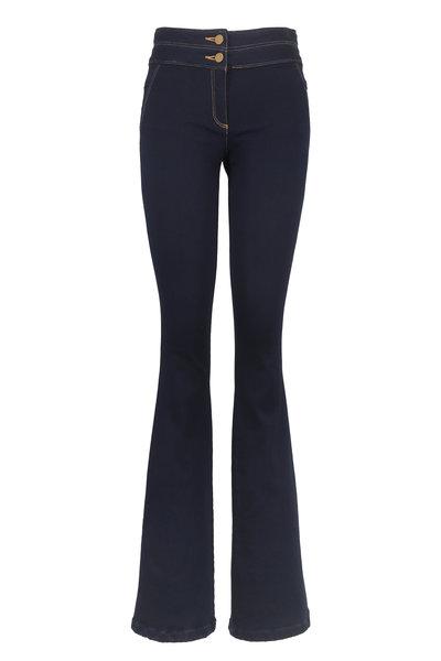 Veronica Beard - Indigo Denim Skinny Flare Leg Pant