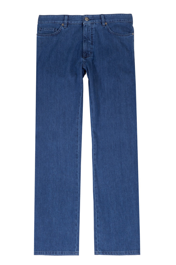 Ermenegildo Zegna Stonewash Indigo Stretch Cotton & Modal Jean