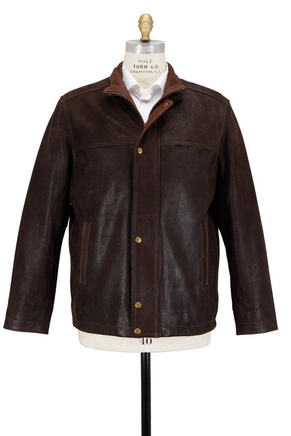 Golden Bear Dark Brown Leather Jacket