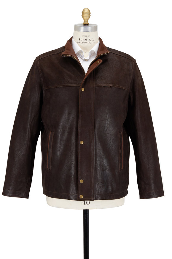 Golden Bear Dark Brown Leather Jacket