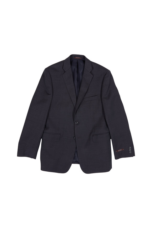 Hickey Freeman Children Charcoal Gray Texutred Wool Boys Suit