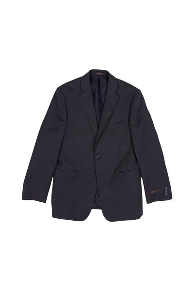 Hickey Freeman Children - Charcoal Gray Texutred Wool Boys Suit
