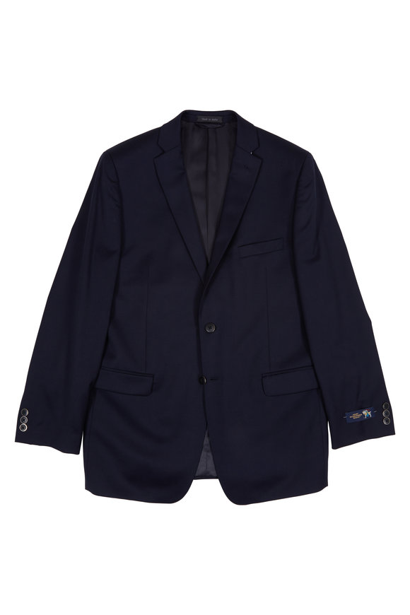 Hickey Freeman Children Navy Blue Wool Boys Sportcoat