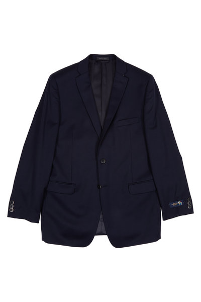 Hickey Freeman Children - Navy Blue Wool Boys Sportcoat