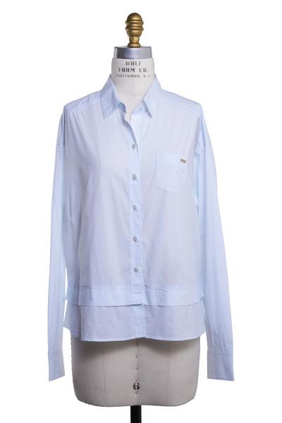 Bogner - Dorice Light Blue Cotton Blouse