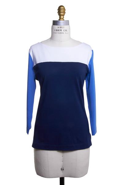 Bogner - Mariana Navy Blue Multicolor Jersey Shirt