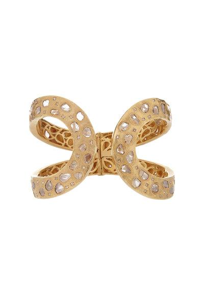 Coomi - 20K Yellow Gold Diamond Eternity Cuff Bracelet