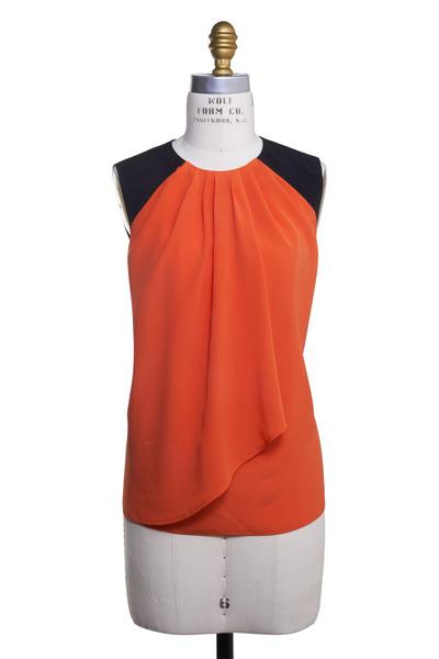 Etro - Orange Silk Blouse