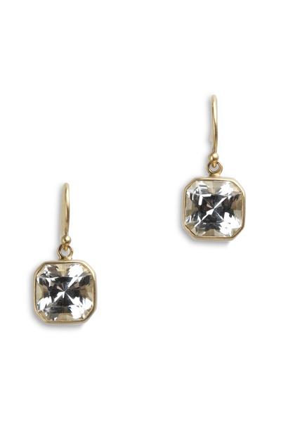 Caroline Ellen - Dorian Yellow Gold Rock Crystal Earrings