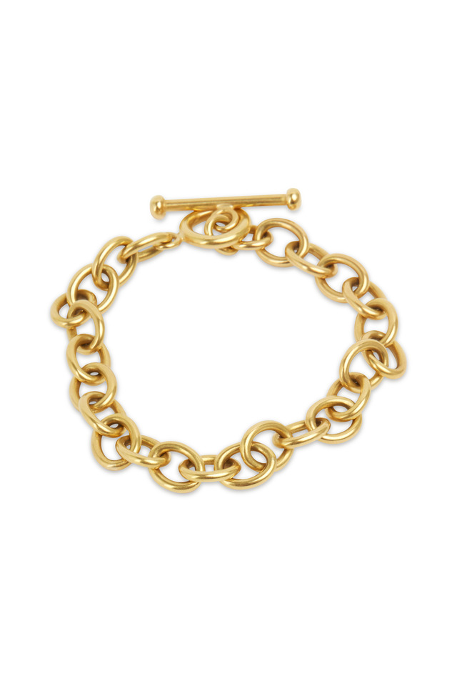 20K Yellow Gold Medium Link Bracelet
