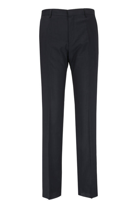 Boss Hugo Boss Genesis Black Wool Trouser