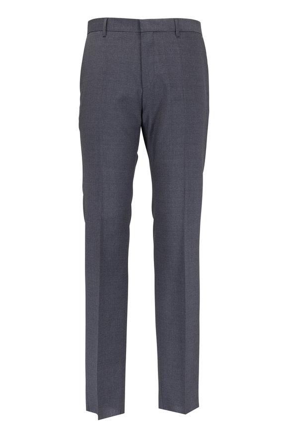 Boss Hugo Boss Genesis Charcoal Gray Wool Trouser