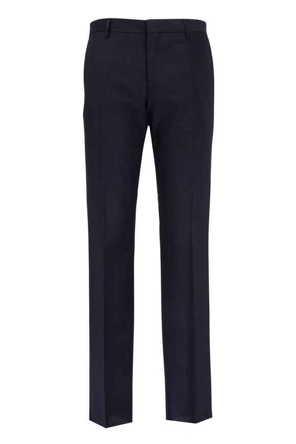 Boss Hugo Boss Genesis Navy Blue Wool Trouser