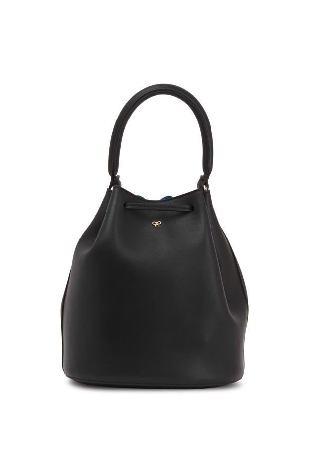 Vaughn Black Leather Mini Crossbody Bag