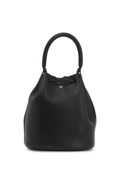 Anya Hindmarch - Vaughn Black Leather Mini Crossbody Bag