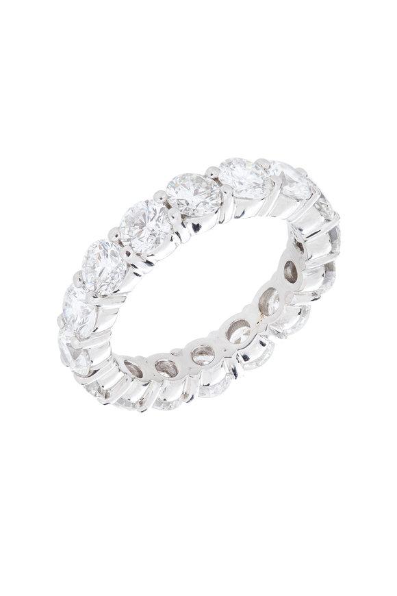 Louis Newman White Gold Diamond Wedding Band