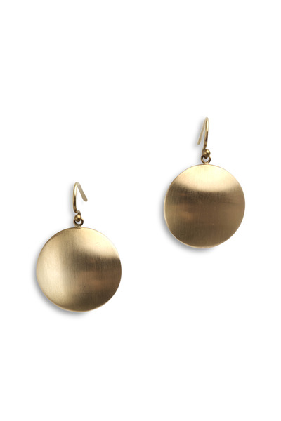 Caroline Ellen - Yellow Gold Large Disk Earrings