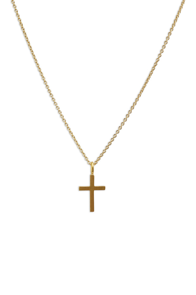 Yellow Gold Cross Chain Necklace
