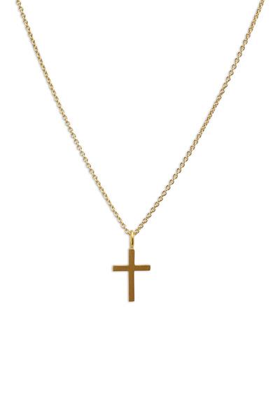 Caroline Ellen - Yellow Gold Cross Chain Necklace