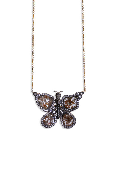 Kimberly McDonald - 18K Yellow Gold Diamond Butterfly Necklace