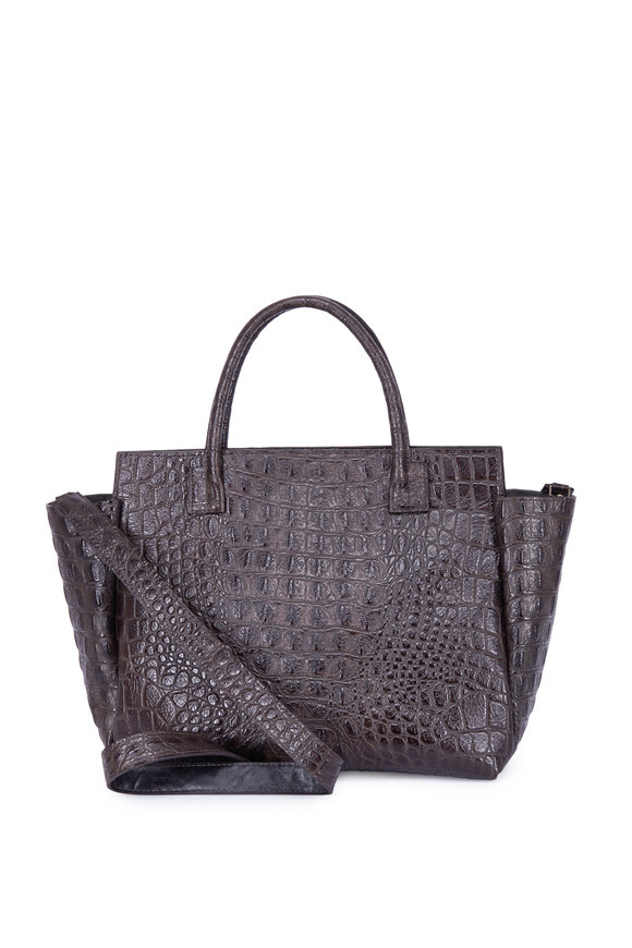 B May Bags Granite Embossed Croc Convertible Bag
