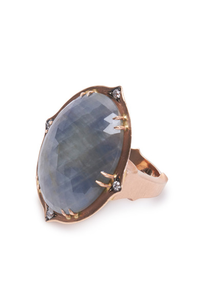 Sylva & Cie - Rose Gold Sapphire Diamond Ring