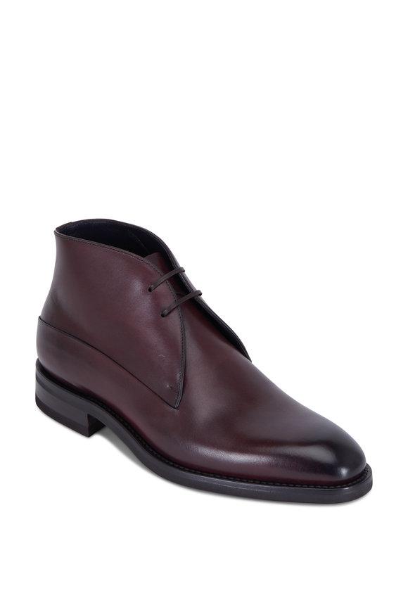 Ermenegildo Zegna Winter Kensington Brown Leather Ankle Boot